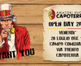 Open Day 2018, Capoterra cerca nuovi talenti