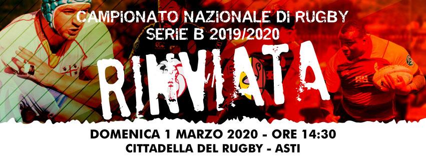 Coronavirus, Rinviata Monferrato vs Rugby Capoterra